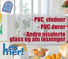 PVC vinduer